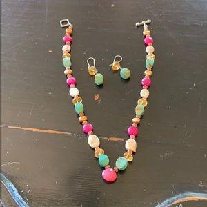 Gemstone Necklace & Earrings